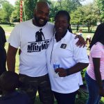 Marnitta and DC Milly Mill at Back to School Event in Seat Pleasant