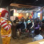 Recognizing the honor roll students with McDonalds